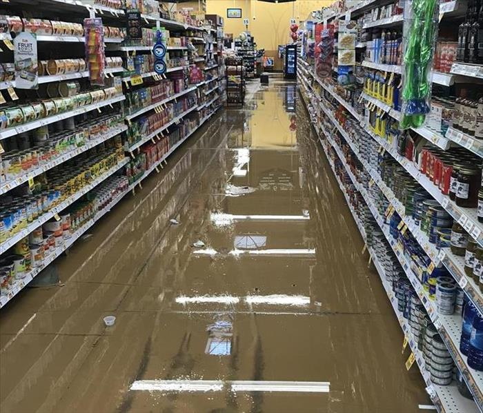 Water damage at local grocery store Before